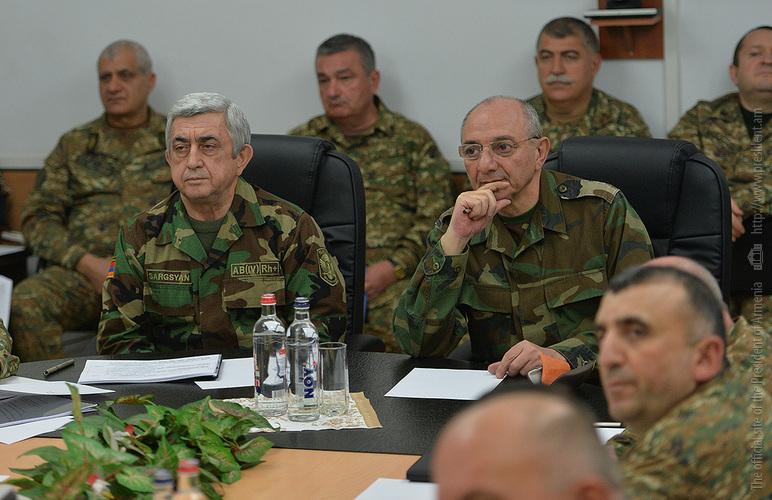 Президенты Армении и Арцаха провели рабочее совещание, посвященное повышению обороноспособности Армии обороны