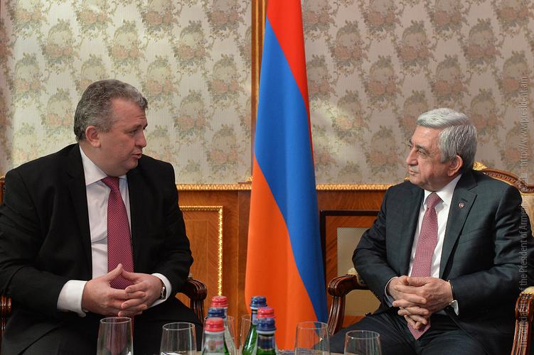 Серж Саргсян: Взаимопонимание вокруг политических вопросов между Арменией и Румынией заметно выросло