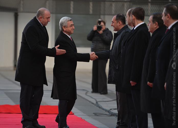 Серж Саргсян с официальным визитом прибыл в Грузию
