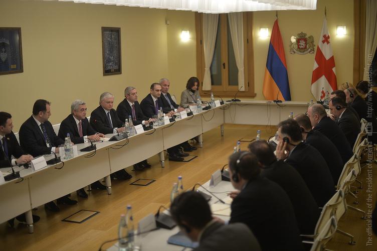 В Тбилиси состоялись армяно-грузинские переговоры на высшем уровне в расширенном составе