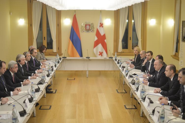Президенты Армении и Грузии довольны ростом объемов торгового оборота