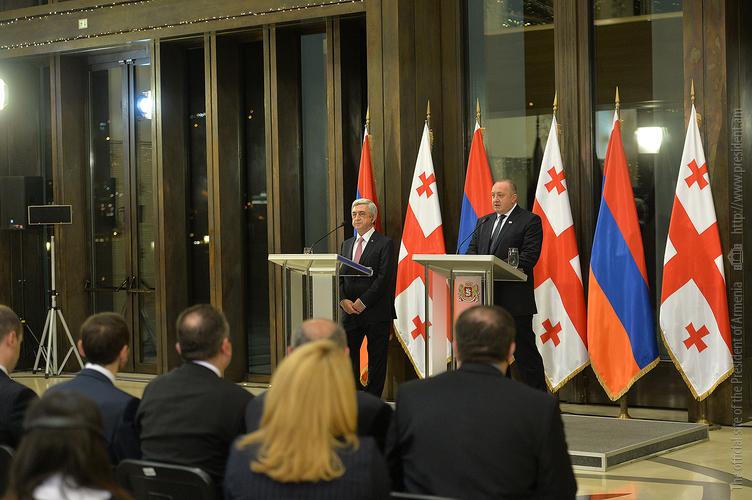 Серж Саргсян: Отношения с Грузией мы строим созвучно с духом времени и нашим богатым наследием