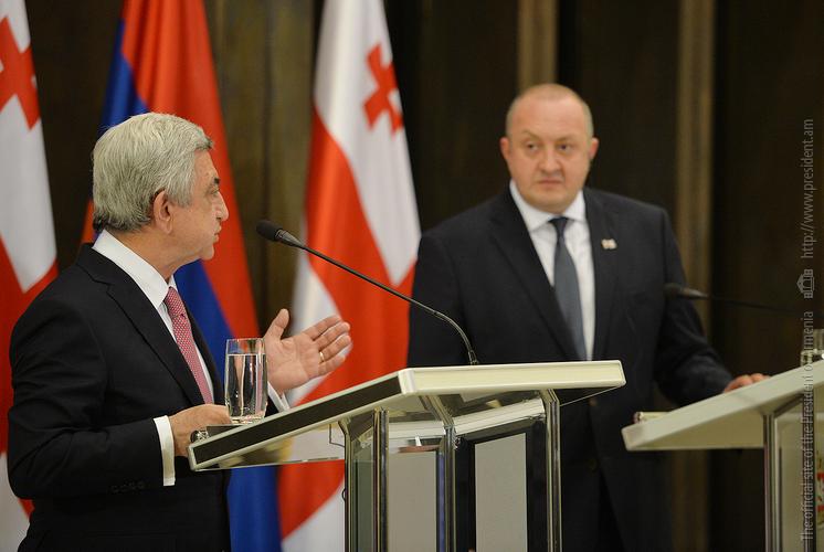 Серж Саргсян: Грузия должна воспользоваться возможностями Армении для экспорта продукции на рынки ЕАЭС и Ирана
