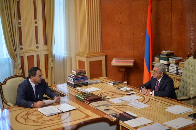 Генпрокурор Армении отчитался президенту Сержу Саргсяну: Число тяжких преступлений снизилось