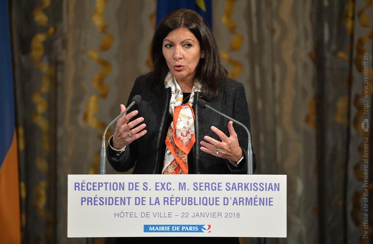 Мэр Анн Идальго на встрече с президентом Армении Сержем Саргсяном: В Париже откроется центр «Тумо»