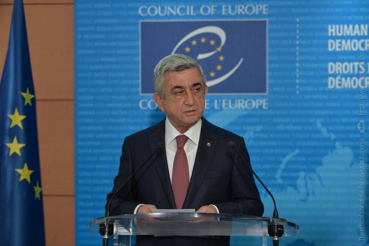 Речь президента Армении Сержа Саргсяна на зимней сессии ПАСЕ