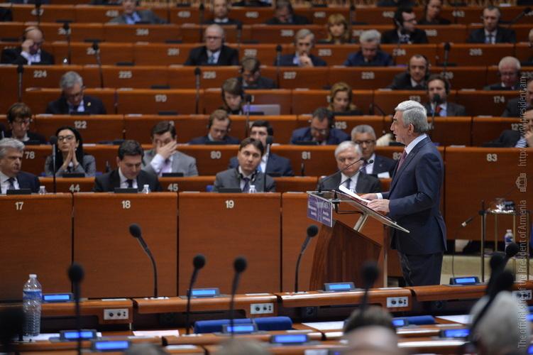 Серж Саргсян призвал ПАСЕ вернуть Азербайджан в реальность и избавить от торпедирующих переговоры иллюзий