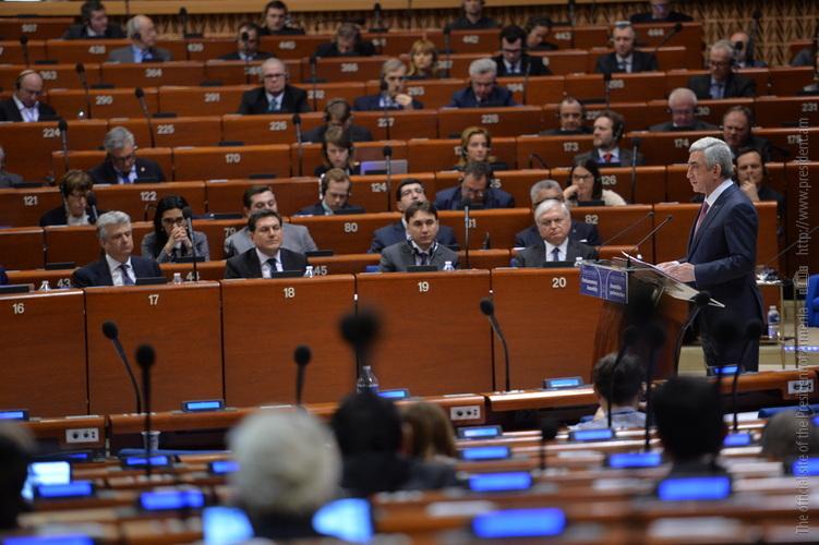 Серж Саргсян напомнил про коррупционные скандалы и предвзятые доклады, подорвавшие авторитет ПАСЕ