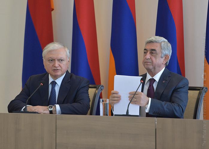 Серж Саргсян: Внешняя политика Армении не должна ограничиваться и вращаться только вокруг карабахской проблемы