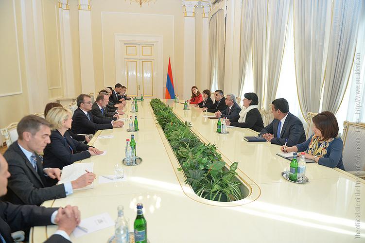 Серж Саргсян отметил высокий уровень отношений Армении и Швейцарии