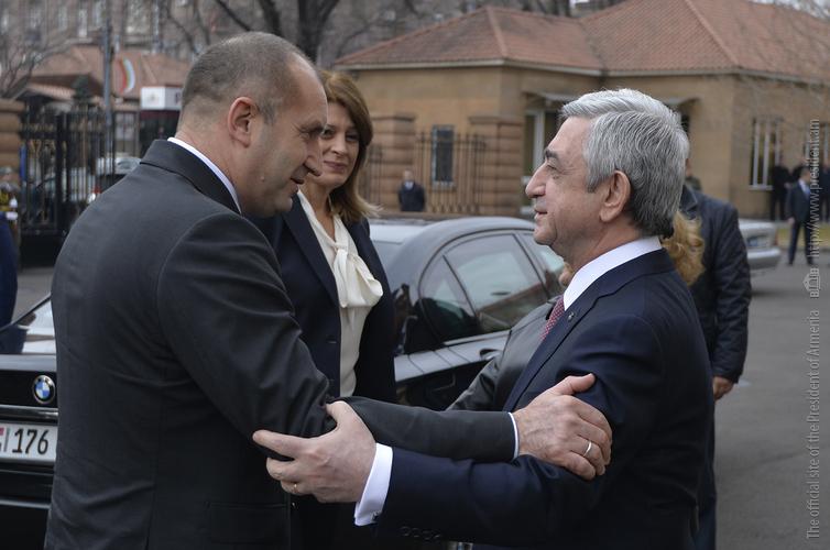 Серж Саргсян и Румен Радев подвели итоги визита президента Болгарии в Армению