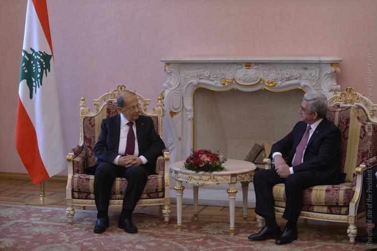 Серж Саргсян президенту Ливана: Ваш визит в Армению откроет новую страницу в наших отношениях