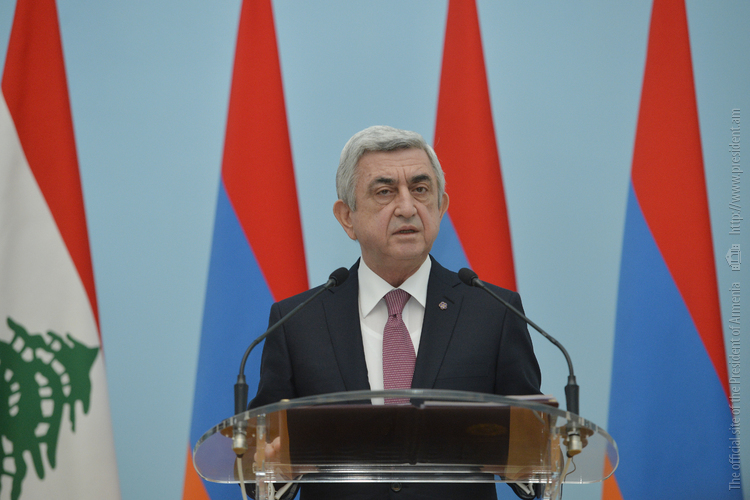 Серж Саргсян: Решение карабахского конфликта не может нарушить право народа Арцаха жить свободно на своей земле