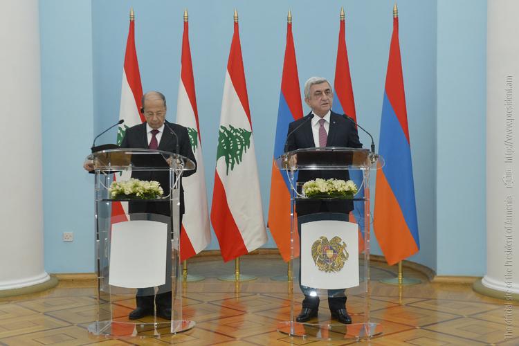 Серж Саргсян пригласил Мишеля Ауна принять участие в саммите франкофонии в Ереване