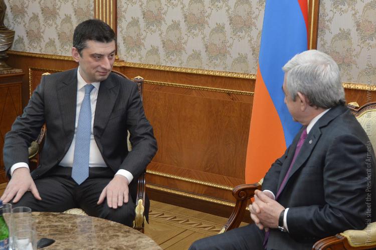 Президент Армении и вице-премьер Грузии обсудили вопросы развития двусторонних отношений
