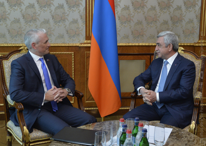 Новый постоянный координатор ООН Шомби Шарп поблагодарил президента Армении за успешную реализацию реформ