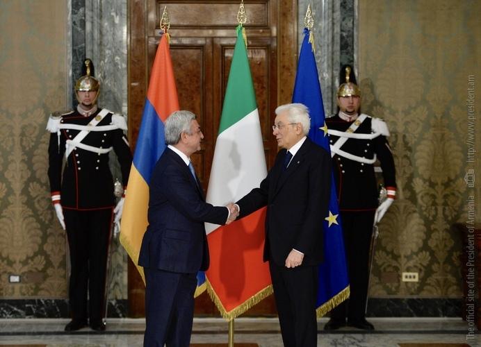 Серджо Маттарелла назвал символичным, что последний визит Сержа Саргсяна на посту президента Армении проходит в Италии