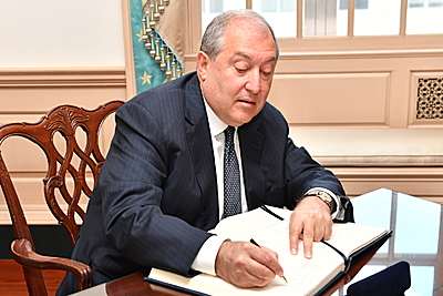 Working visit of the president Armen Sarkissian to Washington