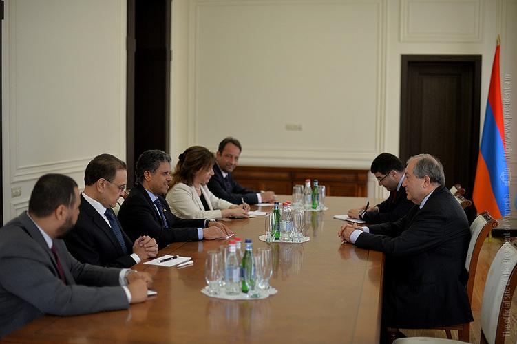 Президент Армении провел встречу с послами арабских стран, аккредитованных в стране