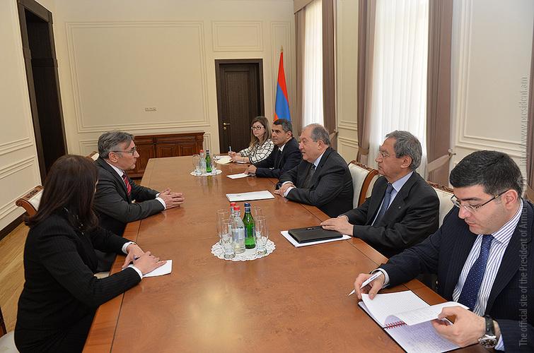 Томас Шрапель представил президенту Армену Саркисяну деятельность Фонда Конрада Аденауэра в Армении