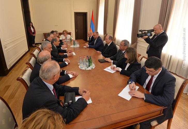 Президент Армении принял председателя Палаты представителей Кипра