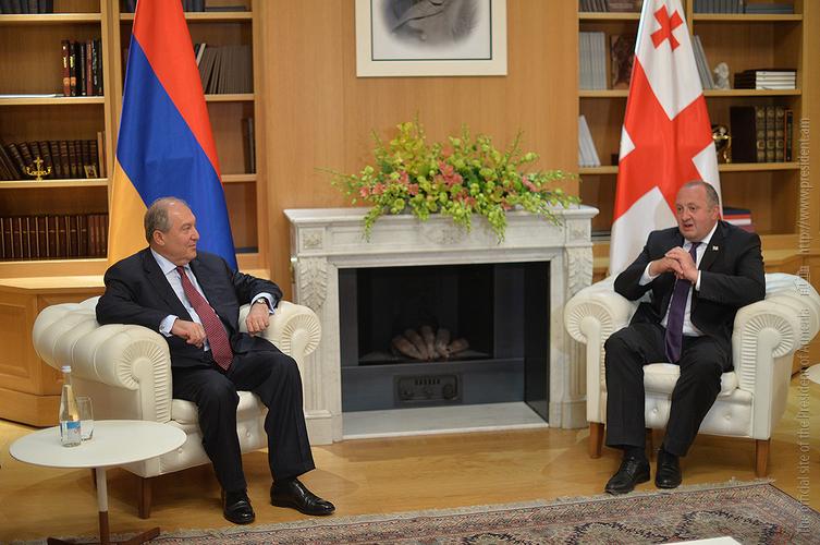 Президенты Армении и Грузии обсудили перспективы развития отношений между странами