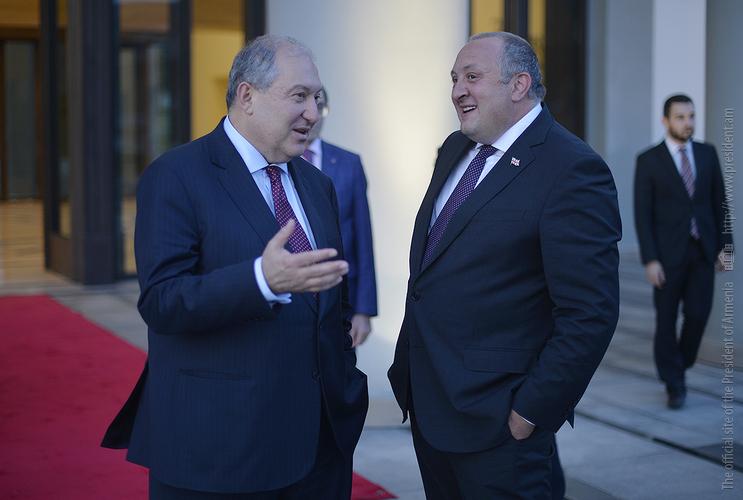 В Тбилиси состоялась встреча президентов Армении и Грузии