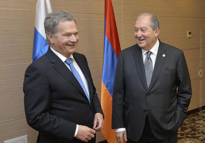 Президенты Армении и Финляндии обсудили вопросы двустороннего сотрудничества