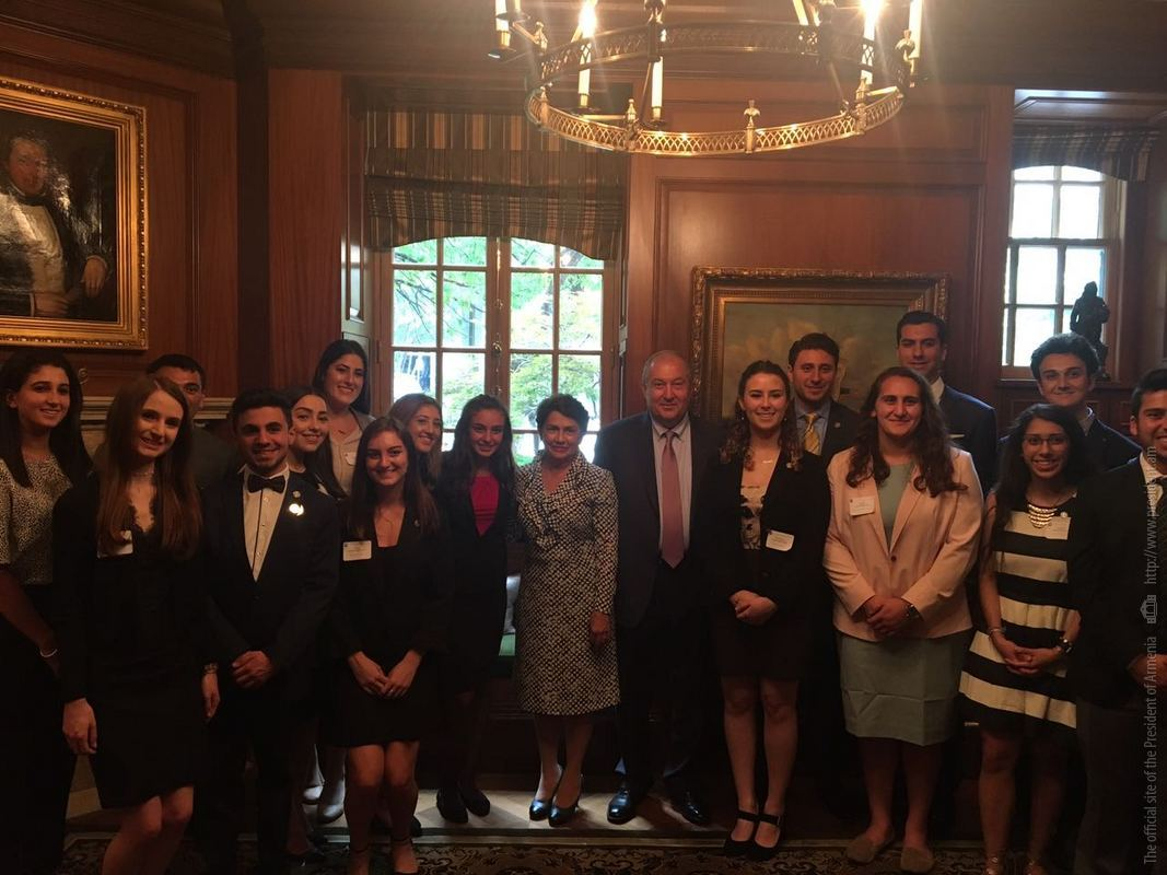 Президент Армении Армен Саркисян провел ряд встреч в Вашингтоне