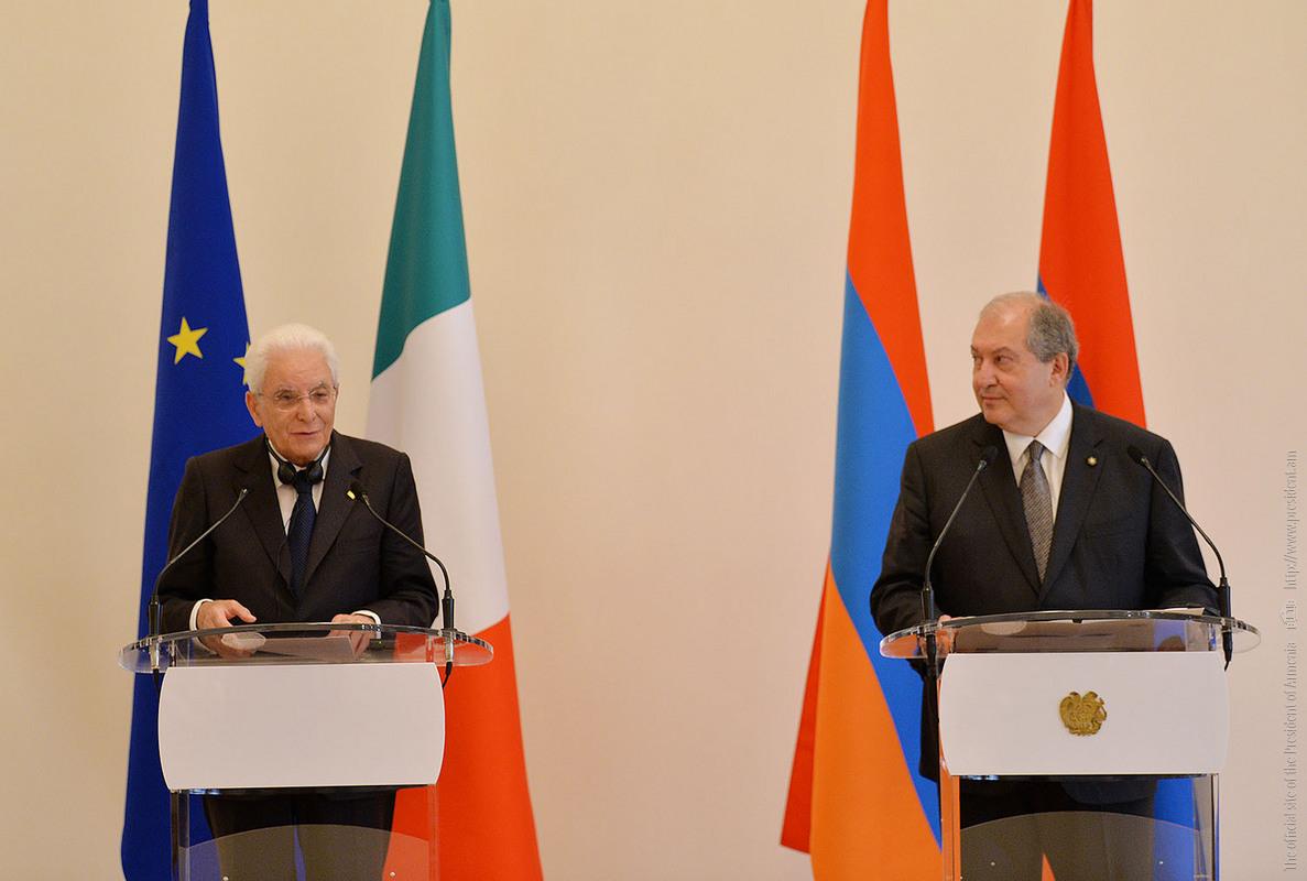 А. Саркисян: На встрече с С.Маттареллой подтверждена приверженность Армении и Италии укреплению двусторонних отношений