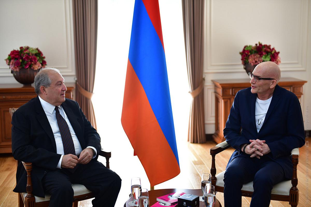 Президент Армении Армен Саркисян встретился с экономистом Кьеллем Нордстремом