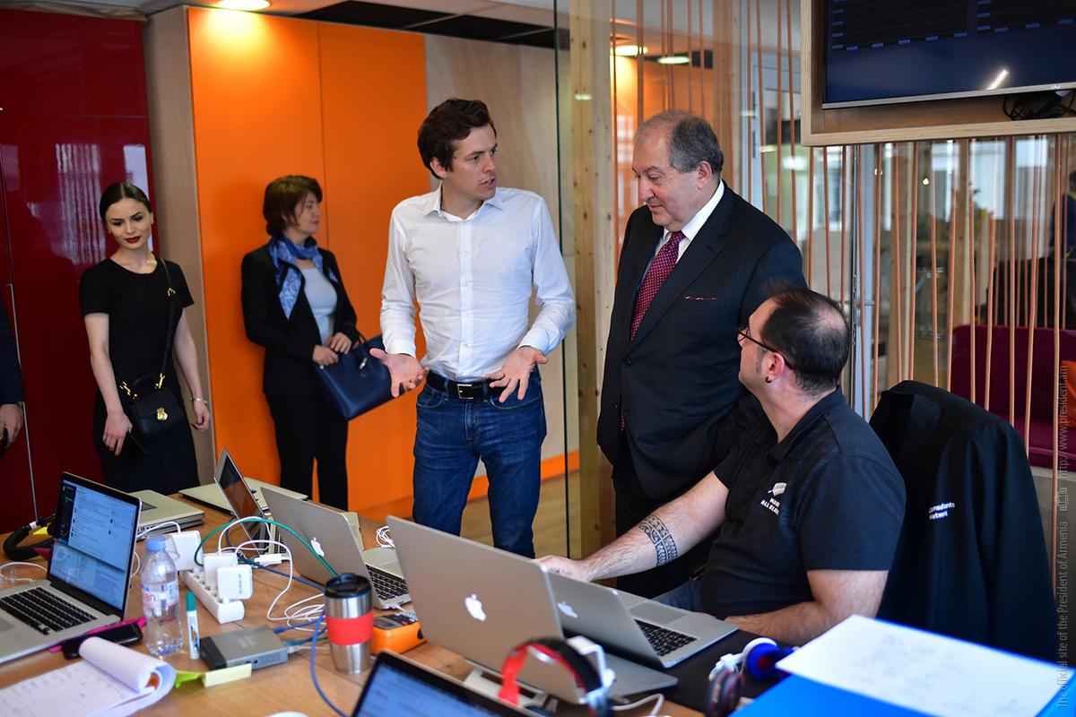 Президент Армении с руководителями компаний «THALES» и «OpenClassrooms» обсудил перспективы дальнейшего сотрудничества