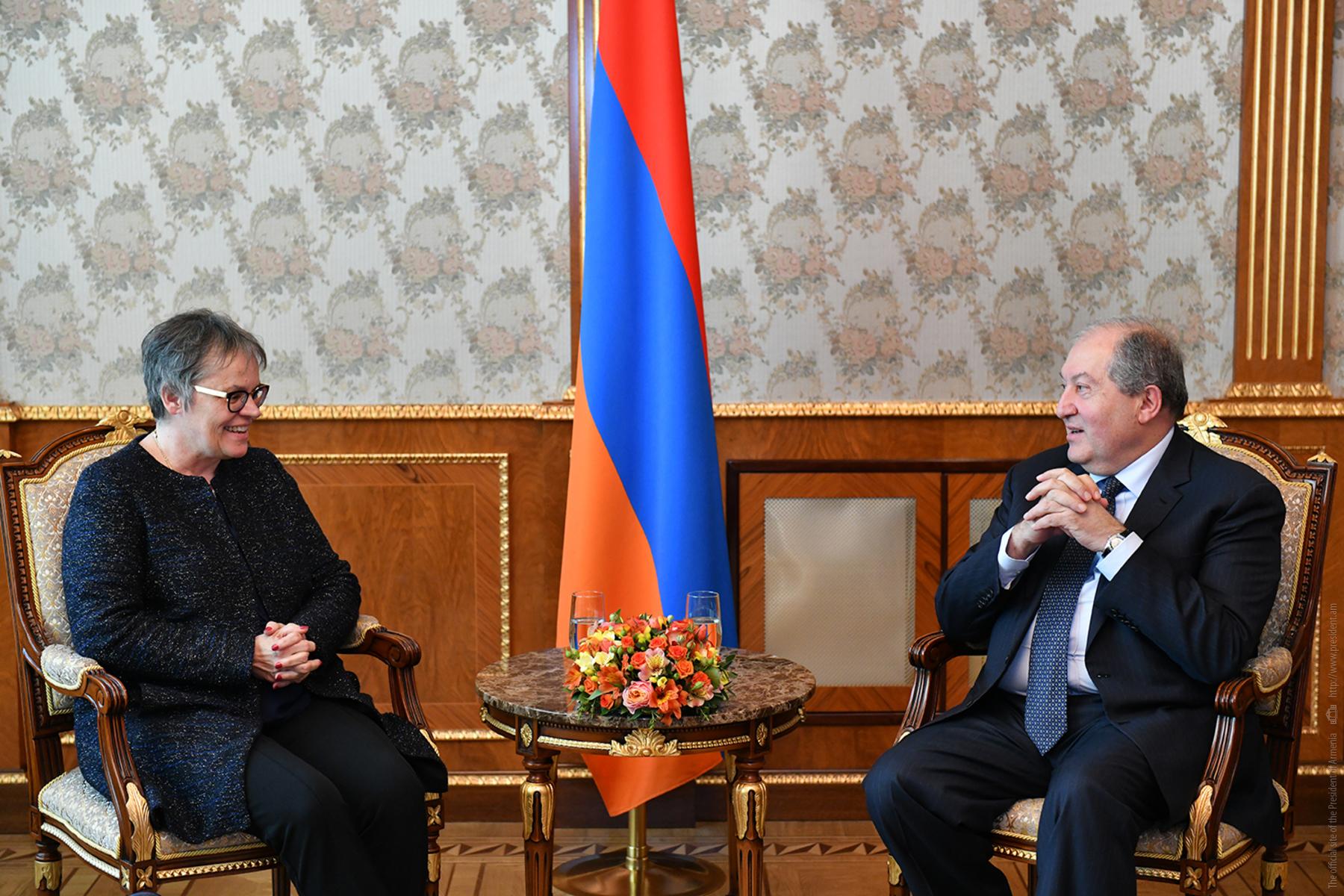 Президент Армении принял председателя ПАСЕ