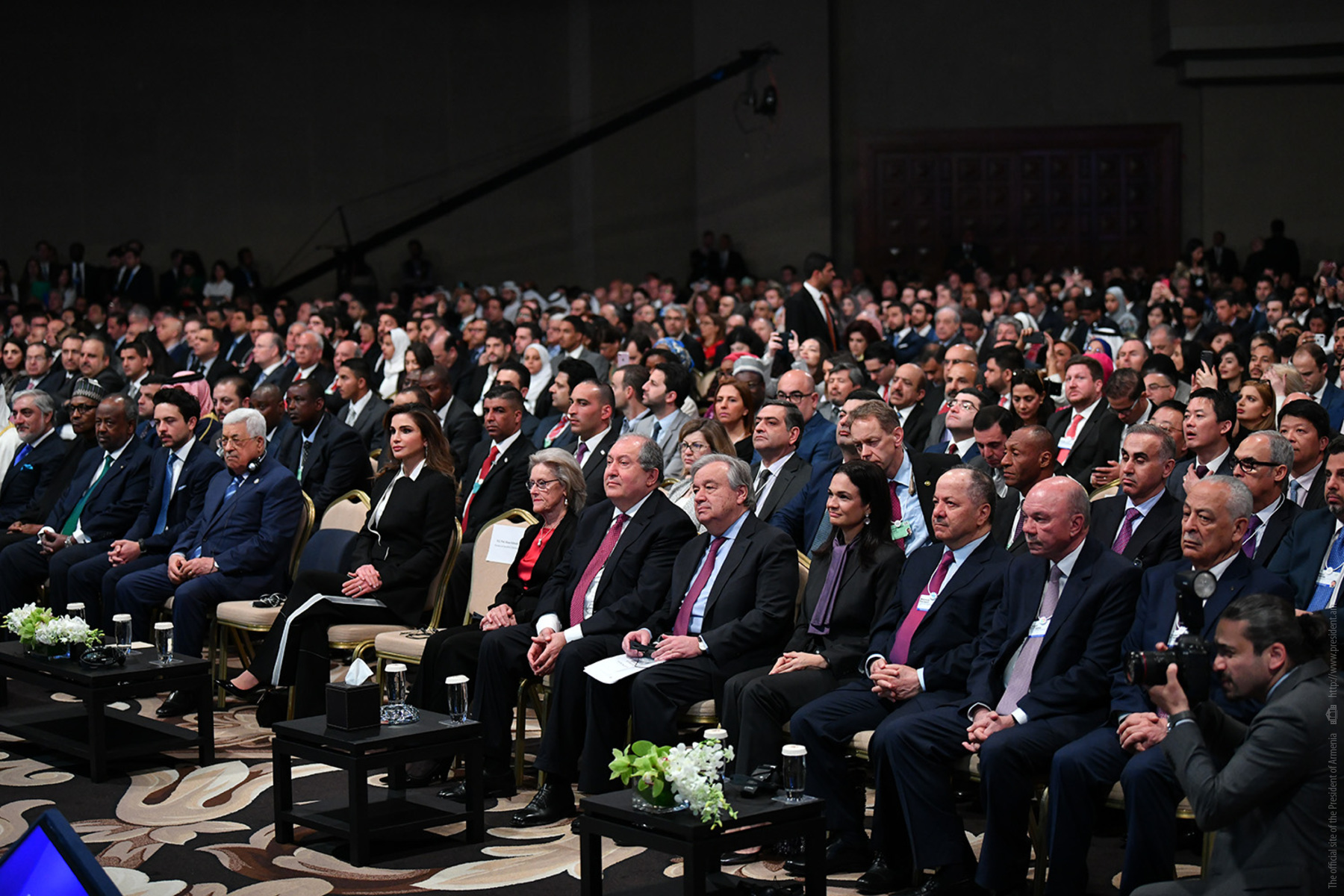 Армен Саркисян принял участие в церемонии открытия регионального форума Всемирного экономического форума в Иордании