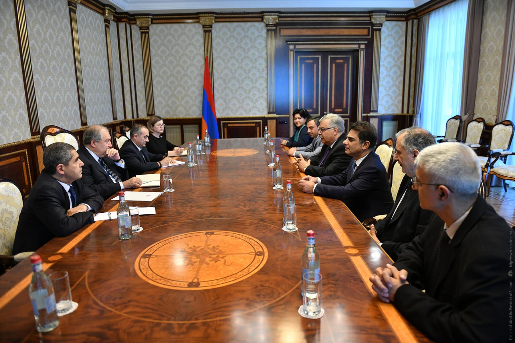 Президент Армении Армен Саркисян принял делегацию АРФ «Дашнакцутюн»