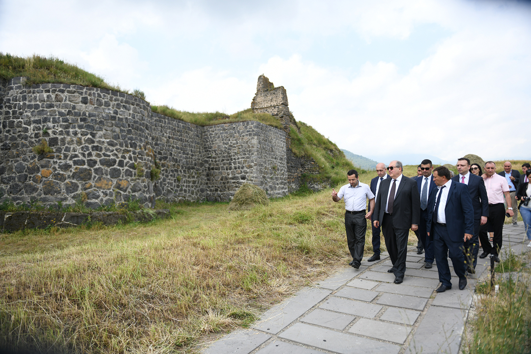 President Sarkissian visited the Lori Citadel: Patriotism