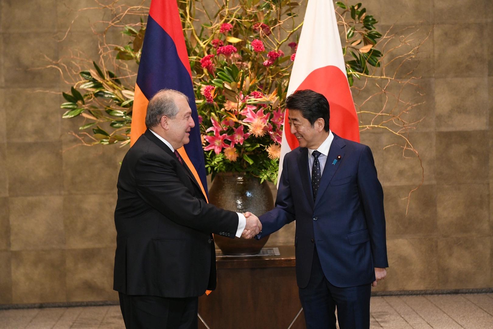 Президент Армении и премьер Японии
