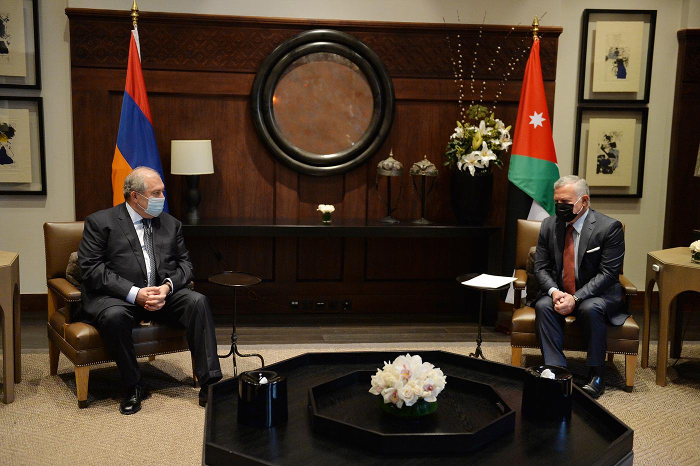 Рабочий визит Президента Республики Армения Армена Саркисяна в Иорданское Королевство