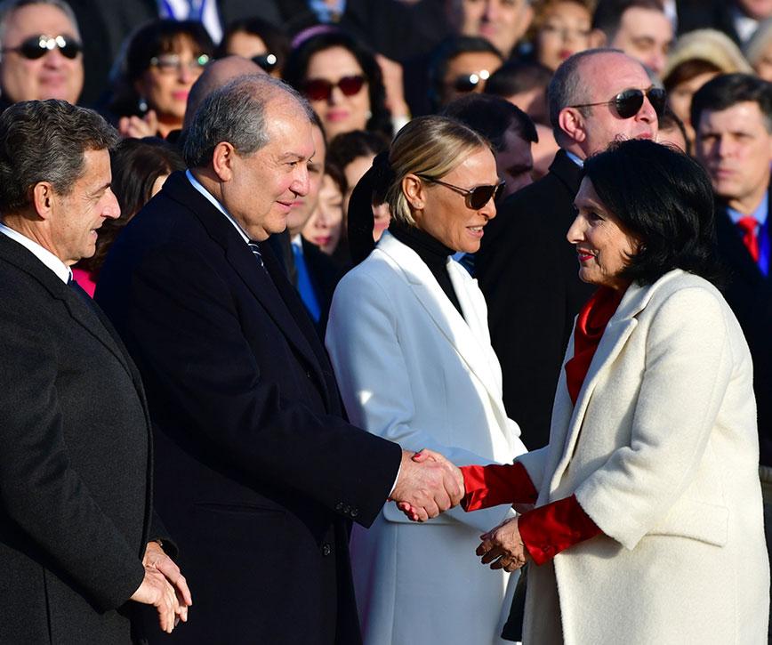Նախագահը մասնակցել է Վրաստանի նախագահի երդմնակալության արարողությանը