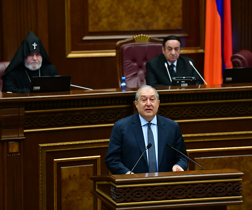Message of the President during the first session of the National Assembly of the Republic of Armenia of the seventh convocation