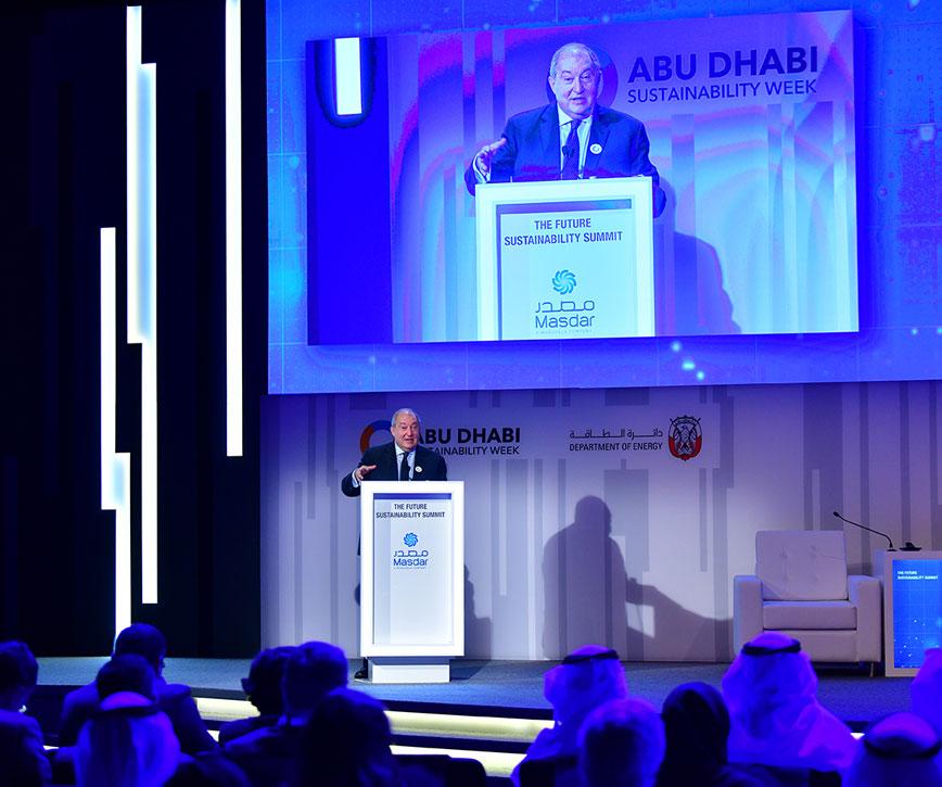 Նախագահն Աբու Դաբիի համաժողովում հանդես է եկել որպես գլխավոր բանախոս