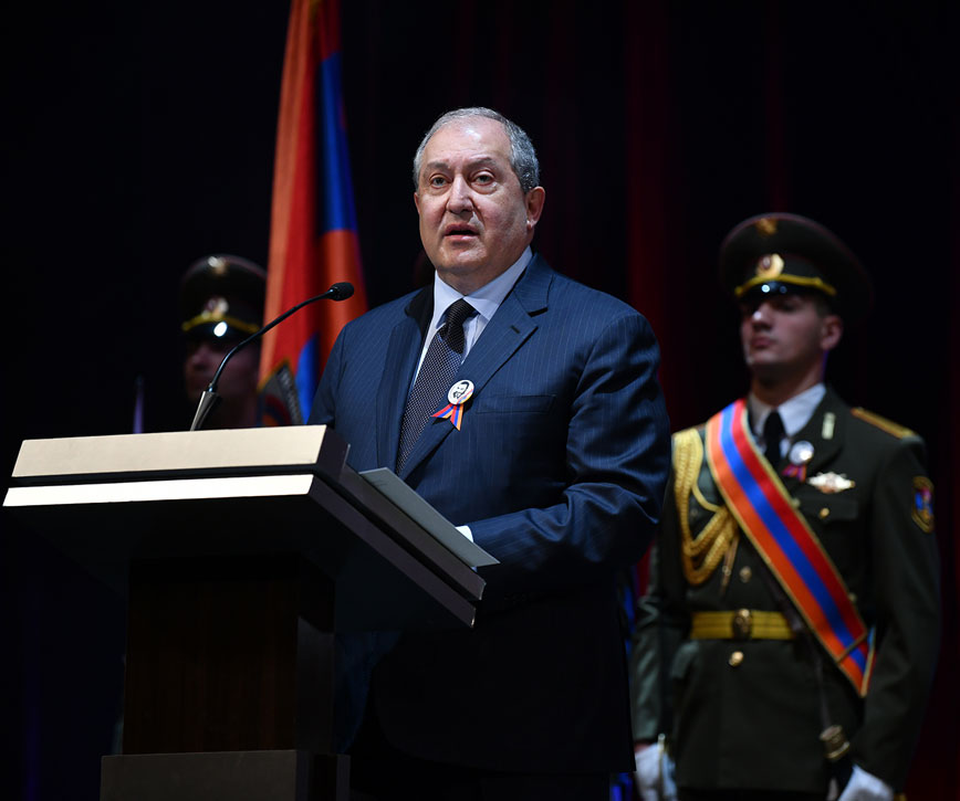 President Armen Sarkissian's speech at the event dedicated to the 60th birth anniversary of Vazgan Sargsyan