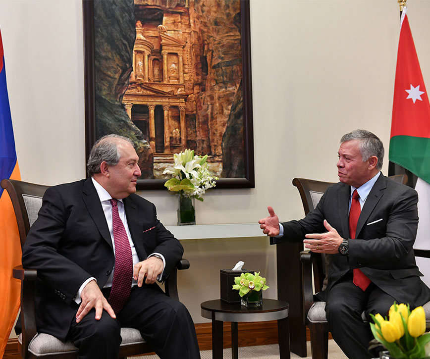 President  Armen Sarkissian met with the King of Jordan Abdullah II