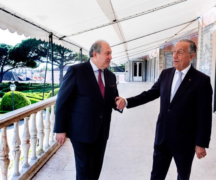 President  Sarkissian met with the President of Portugal De Sousa