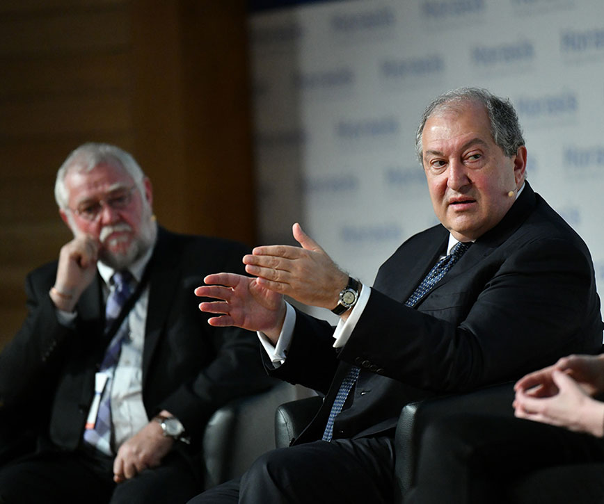 President Sarkissian participated at the global meeting of Horasis