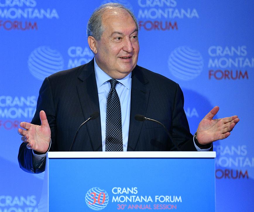 Նախագահ Սարգսյանը մասնակցել է Crans Montana Forum-ի բացմանը