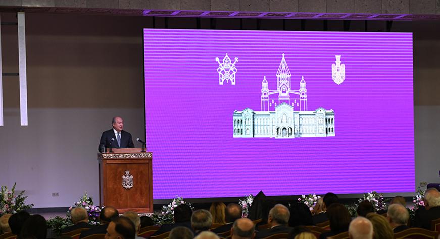 Речь Президента Республики Армена Саркисяна на церемонии открытия Патриаршей Резиденции