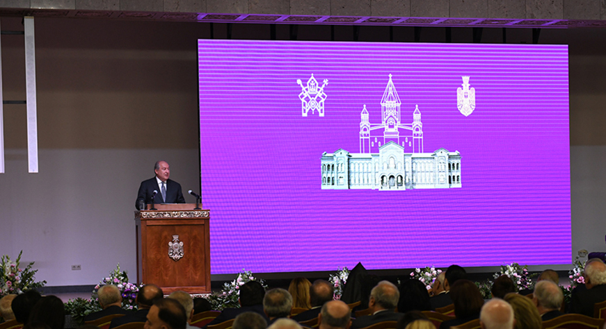 President Sarkissian's address at the official opening of the Residence of the Catholicos