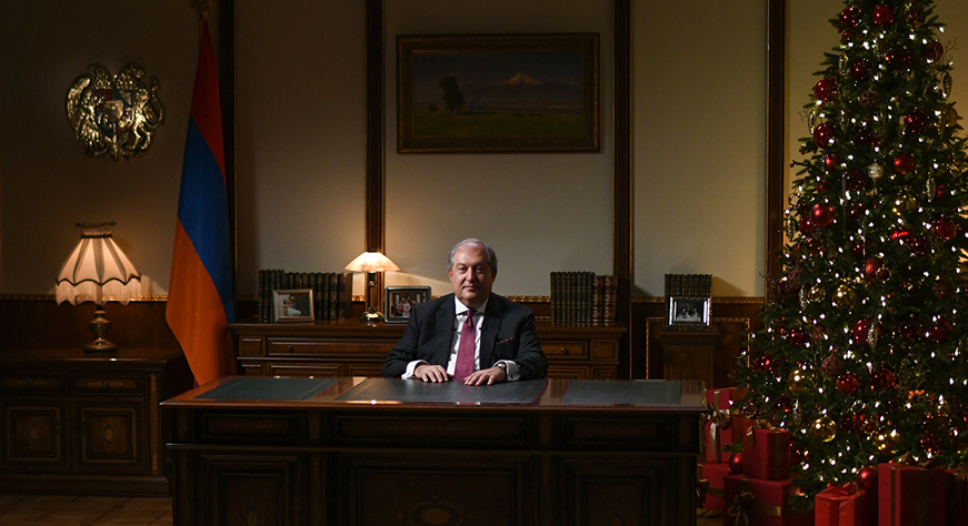 President Armen Sarkissian sent a congratulatory message on the occasion of New Year and Holy Christmas