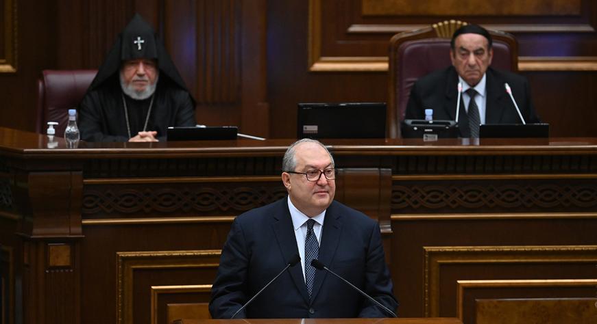 Discours Du Président De La République Armen Sarkissian A La Première Session De La Huitième Convocation De L'assemblée Nationale